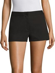 Theory Biquincey Stretch Cotton Shorts Black