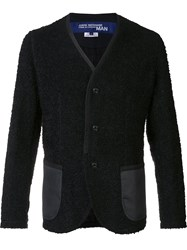 Junya Watanabe Comme Des Garcons Man Contrast Pocket Cardigan Black