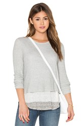 Generation Love Brooke Waffle Top Light Gray
