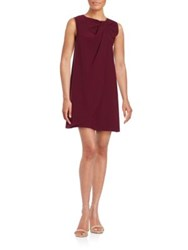 Erin Fetherston Sleeveless Bow Accented Shift Dress Wine