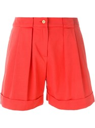 Cacharel Box Pleat Shorts Red