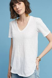 Anthropologie Outfield Tee White