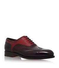 Santoni Colin Colour Blocked Oxford Shoes Male Wine