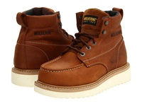 Wolverine Moc Toe Wedge Heel Steel Toe Honey Men's Work Lace Up Boots Tan