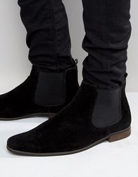 New Look Faux Suede Chelsea Boots In Black