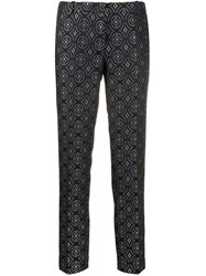 Kiltie All Over Pattern Trousers Blue