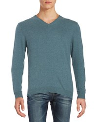 Strellson Cotton Blend V Neck Sweater Pastel Blue