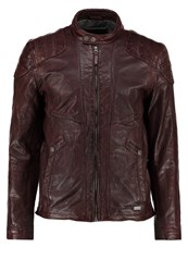 Mustang Miquel Leather Jacket Brown