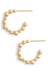 Anzie Bubbling Brook Hoop Earrings Gold