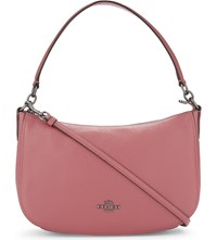 Coach Chelsea Grained Leather Cross Body Bag Dk Rouge