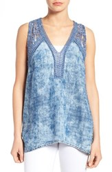 Kut From The Kloth Women's Laci Crochet Inset Top