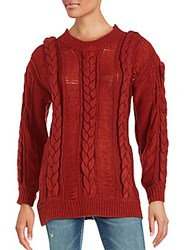 Somedays Lovin Cable Knit Roundneck Sweater Red
