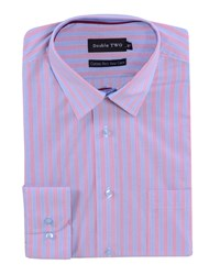 Double Two Men's Patterned Formal Shirt Red