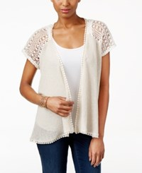 Styleandco. Style Co. Sheer Open Front Cardigan Only At Macy's Natural