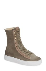 Blackstone Ql50 Genuine Shearling Lined High Top Sneaker Boot Iceland Leather