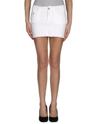 Miss Sixty Denim Skirts White