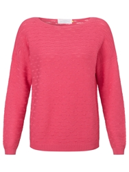 Collection Weekend By John Lewis Drop Needle Boat Neck Top Pink