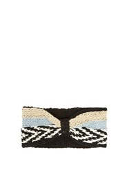 Missoni Striped Knitted Headband Black