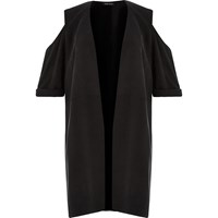River Island Womens Ri Plus Black Cold Shoulder Kimono
