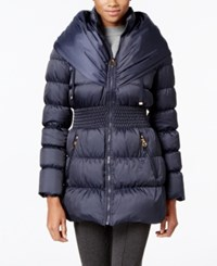 Laundry By Shelli Segal Pillow Collar Down Coat Mystic Blue