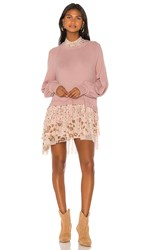 Free People Opposites Attract Mini Dress In Pink.
