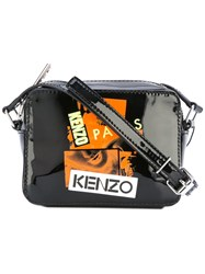 Kenzo Antonio Lopez Camera Crossbody Bag Women Cotton Calf Leather Nylon One Size Black