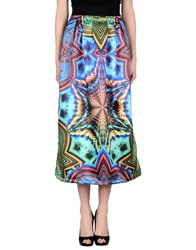 Mariuccia Skirts 3 4 Length Skirts Women Bright Blue