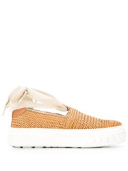 Casadei Woven Slip On Sneakers 60