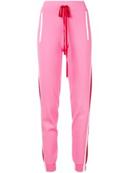 P.A.R.O.S.H. Side Stripe Track Pants Pink And Purple