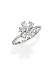 Kwiat Elements Diamond And 18K White Gold Flower Ring