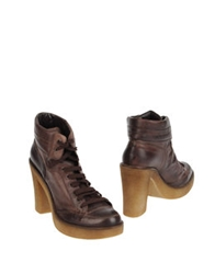 Marella Shoe Boots Dark Brown