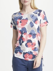 Gerry Weber Ruched Short Sleeve T Shirt Multi