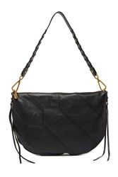 Hobo Cisco Leather Shoulder Bag Black