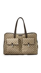Wgaca Gucci Boston Bag Previously Owned Brown