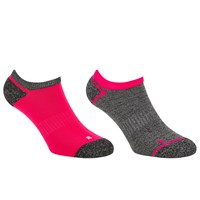 John Lewis Sports Trainer Socks Pack Of 2 Neon Pink Dark Grey