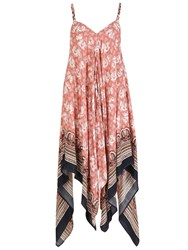 Izabel London Elephant Printed Scarf Hem Jumpsuit Pink