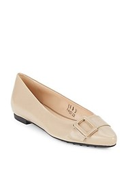 Tod's Leather Point Toe Ballet Flats Tan
