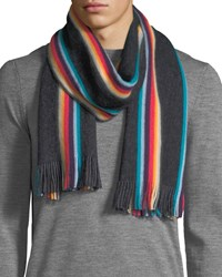 Paul Smith Twisted Artist Scarf Black