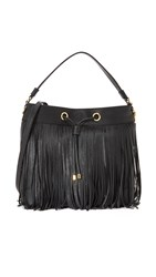 Milly Essex Fringe Hobo Bag Black