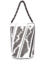 Proenza Schouler Striped Detail Tote Bag Women Calf Leather One Size White
