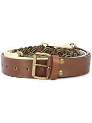 Y Project Segment Buckled Belt Nude And Neutrals