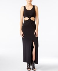 Material Girl Juniors' Cutout Maxi Dress Only At Macy's Black