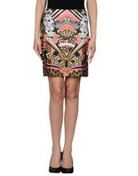 Emma Cook Knee Length Skirts Camel