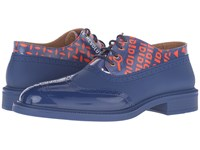 Vivienne Westwood Lace Up Plastic Brogue Sapphire Blue Men's Lace Up Casual Shoes