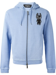Dsquared2 Dog Print Hoodie Blue