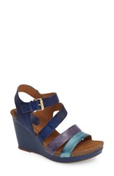 Sofft Women's Candia Wedge Sandal Royal Blue Leather