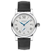 Montblanc 111881 Men's Star Date Alligator Leather Strap Watch Black White