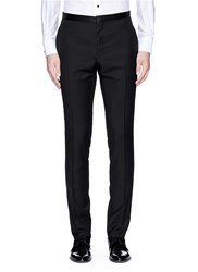 Lanvin Slim Fit Satin Trim Tuxedo Pants Black