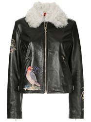 Red Valentino Embroidered Jacket Black