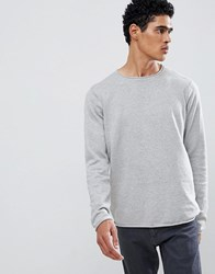D Struct Crew Neck Jumper Grey